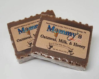 Handmade Goat Milk Soap - Oatmeal, Milk & Honey
