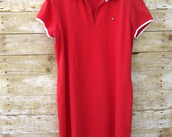 90's Tommy Hilfiger Shift Dress - Preppy Dress Size XL Shirt Dress