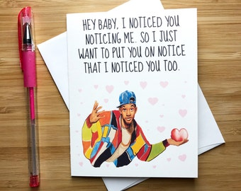Cute Will Smith Love Card, Funny Valentines Day Card, Funny Quotes, 90s Pop Culture, Funny Love Card, Valentines Gift, Happy Anniverary