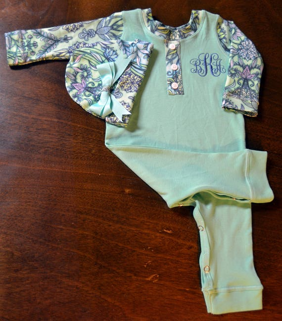 Personalized, Custom Made Baby Outfit, Upscale Baby Outfit, Going Home Outfit Girl-Baby Shower Gift Girl-Coming Home Outfit