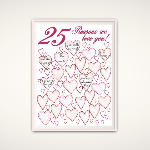 Wedding Anniversary Gifts For Parents 25th : 25th Anniversary Gift For Parents, 25th Birthday Gift, 25th Wedding ...