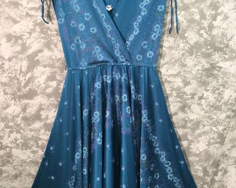 1970's Floral Disco Dress