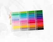 TV Little Things | Rainbow Multicolor | Matte Glossy Planner Stickers