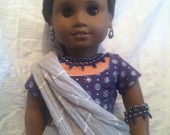 6pc sari set fits 18inch dolls