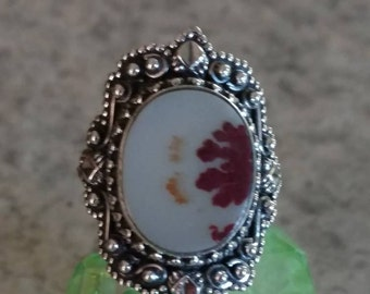 Russian Dendritic Agate Ring, Size 8