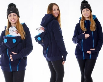 3 in 1 Sling front carry fleece jacket with maternity wear jacket back + front Babywearing