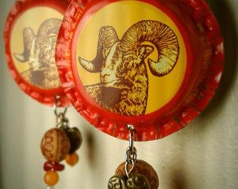 Shiner Ram Earrings