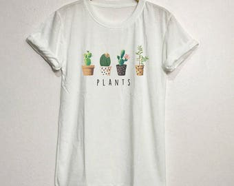 Cactus Plants Cute Shirt T-Shirt Gifts Funny Graphic Tee Tops Clothing Unisex Adults Size S M L XL