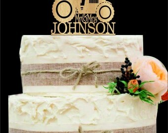 Tractor Wedding Cake Topper, Bride and Groom Wedding Cake Topper, Rustic Wedding Cake Topper, Country Wedding cake topper, wedding decor