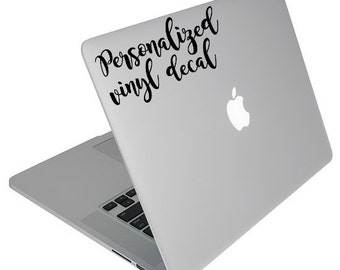 Laptop MonogramLaptop Vinyl MonogramLaptop StickerLaptop - Custom vinyl laptop decals