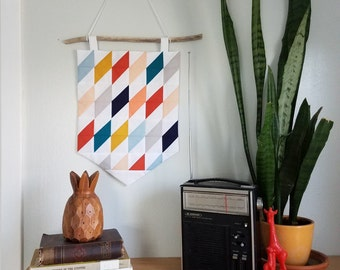 Fabric Wall Hanging - Mini Quilt - Textile Art