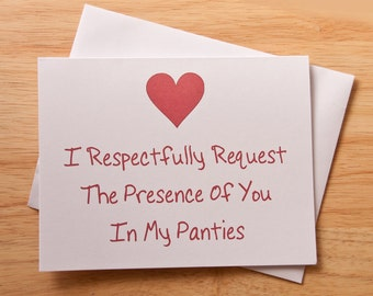 Naughty Card, Dirty Note Card, Birthday Card, Funny Card, Anniversary Card , Sexy Card, Romantic Card, Boyfriend Gift, For Husband, Love