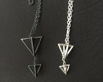 Orbital Pyramid Necklace
