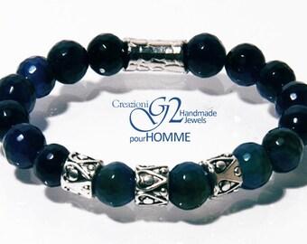 Blue Agate Bracelet Homme