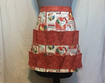 Egg Apron, Hen House Helper Apron to gather eggs, Collecting Apron, Egg Harvesting Apron, Farm Apron, Crafting Apron, Chicken Apron