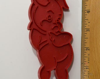 Vintage TUPPERWARE PIG Cookie Cutter | 1963 4 7/8""