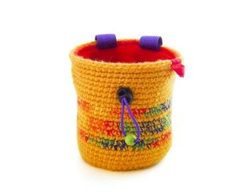 Chalk Bag Climbing Gear. Rock Climbing Gifts. Chalkbag. Handmade Chalk Bag. Crochet Chalk Bag, Size M