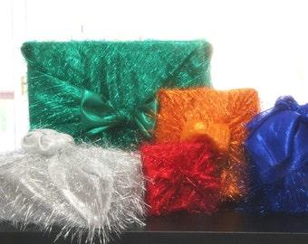 Tinsel Reusable Fabric Gift Wrap Set