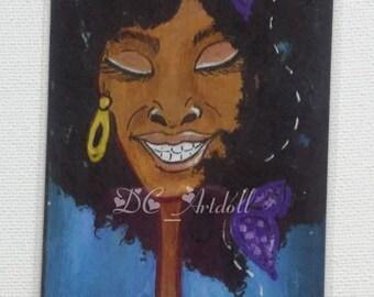 Big Idea #2 Bookmark? Afro Bookmark/ Original Art Bookmark