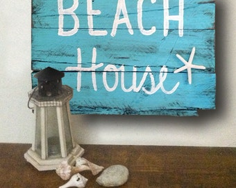 Beach House Signs - Starfish Sign - Beach House Decor - Beach House Gift - Beach - Beach House Sign - Birthday Gift - Father's Day Gift