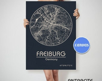 FREIBURG Germany map Freiburg map, Freiburg , Freiburg Germany, Freiburg map print, Freiburg wall art , Freiburg map art, Wall decor