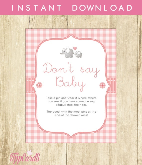 baby shower game don 39 t say baby sign diaper pins clothes pin game