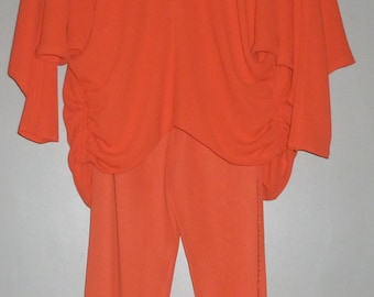Vintage 1980's Frank Usher Batwing Top and Trousers UK 8 - 10