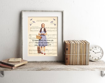 The Wizard of Oz Dorothy and Toto Sheet Music Art Print