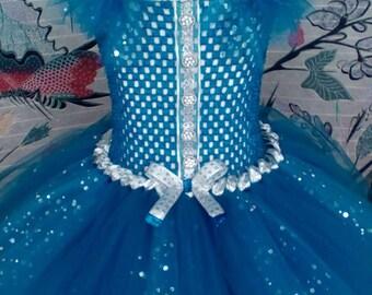 Princess tutu dress blue