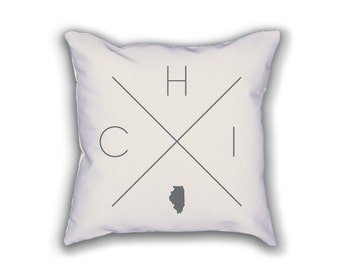 Chicago Home Pillow - Illinois Pillow, Illinois Home Decor, Chicago Home Decor, Illinois Home Pillow, Illinois Throw Pillow