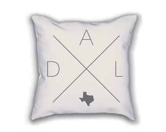 Dallas Home Pillow - Texas Pillow, Texas Home Decor, Dallas Home Decor, Texas Home Pillow, Texas Throw Pillow