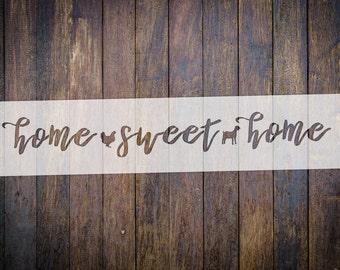 Home Sweet Home STENCIL || Reusable || Multiple Sizes Avaliable