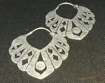 Earrings ethnic tribales.joyeria, in plata.pendientes calados.bohemios, modern,