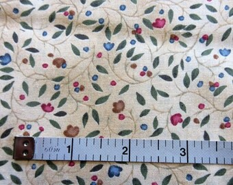 Fantasies By Hoffman Quilt/Craft Fabrics - Vintage -Small Print - 1/2 Yard