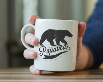 Papa bear mug, papa bear, dad mug, fathers day gift, gift for dad, dad gift, Papa Bear Gift, New Dad Gift, Dad To Be, First Time Dad
