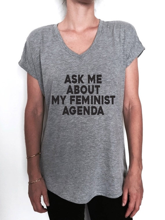 ask me about my feminist agenda Triblend Ladies by Nallashop