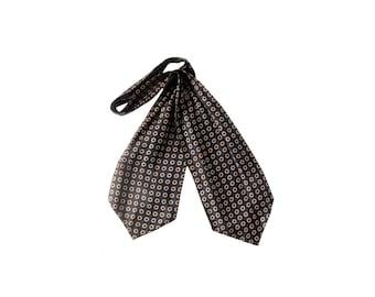 Vintage Ascot - Vintage 60s Ascot - Ascot - Ascot Tie - Vintage 60s Cravat - Silk Ascot - Ascot Tie - Silk Foulard Ascot - 60s Silk Tie