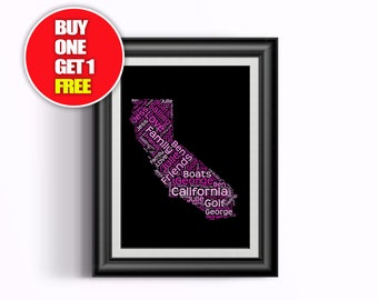 California  artwork,  California   present, California, California  word art