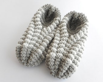 Slippers Phentex stripped, man and woman, grey and white, ready to ship, ready to ship