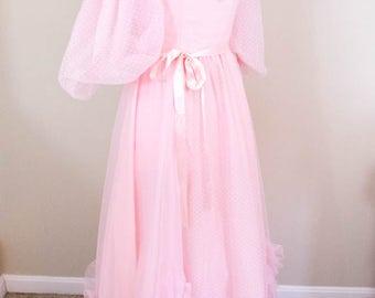 50s Style Prom Dress - XS - Pink Prom Dress - Vintage Prom Dress - 50s Prom Dress - 80s Prom Dress - Pink Wedding Dress - Quinceanera Dress