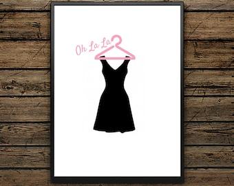 "Premium Poster ""Little Black Dress"" - Scandinavian Poster - Wall Art - Black and White Print - Premium Quality - Ideal Gift"