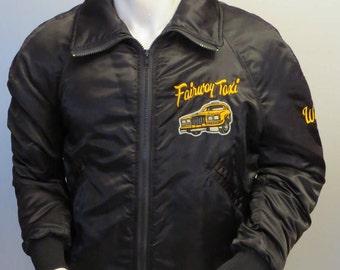 Vintage Men's Bomber Jacket - Fairway Taxi - Fully Crested - Men's Large