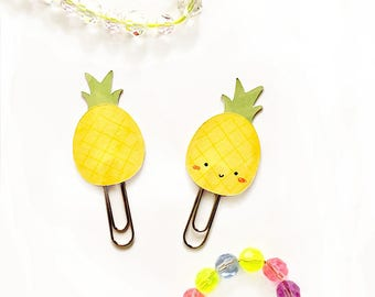 pineapple paper clip - book mark - handmade cute paper clip - planner accessories