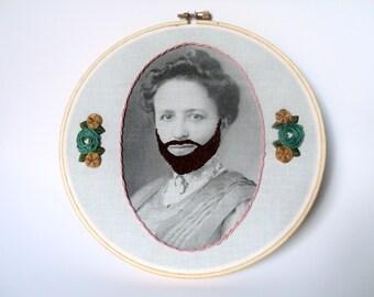 Bearded Lady Emrboidery Hoop