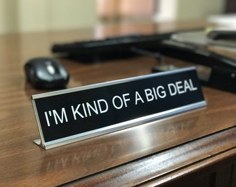 Funny Personalized Desk Sign