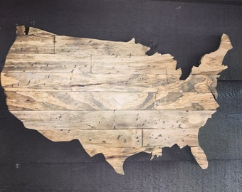 Wooden United States Wall Art