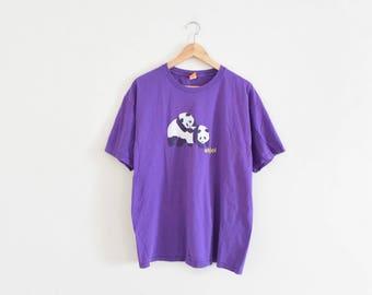 ENJOI SKATEBOARDS TEE || size adult large || 90s || t-shirt || skateboard brand || panda logo || skater || skateboarding || vintage!