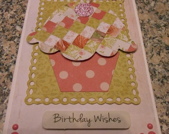 Handmade Cup Cake Greeting Card