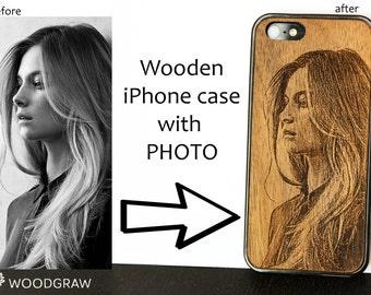 Personalised iPhone Case iphone 6 case wood Ph Personalized Phone Case Custom design Individual design Personal design Monogram iPhone
