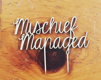 Mischief Managed Harry Potter Cake Topper